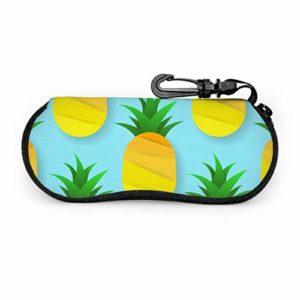 NA Beau cas d'ananas de fruits colorés pour hommes lunettes de soleil enfant lunettes de soleil cas lumière portable néoprène fermeture éclair étui souple lunettes à fermeture éclair étui