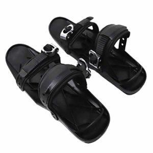 #N/A Mini Chaussures de Ski Luge Planches à roulettes de Neige 38,5×13,2 Cm Chaussures de Neige Noires Raquettes à Neige Snowboard Patins à Neige – Antidér