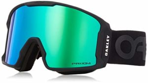 Oakley Line Miner Masque de Ski Mixte Adulte, Factory Pilot Blackout/Prizm Jade Iridium, 99