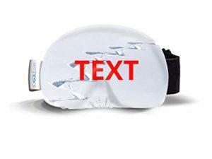 Protège-lunettes de ski en microfibre (taille unique)
