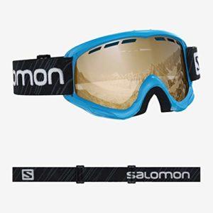 Salomon, Juke Access, Masque de ski pour enfants (6-12 ans), Bleu/Universal Tonic Orange, L40848200