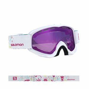 Salomon, Juke, Masque de ski pour enfants (6-12 ans), Blanc/Universel Ruby, L40847900