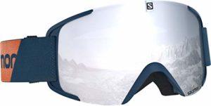 Salomon, Masque de Ski Unisexe, Temps Variable, Écran Blanc Multicouche (interchangeable), Airflow System, XVIEW, Bleu (Marrocan Blue), L40519100