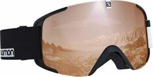 Salomon, Xview Access, Masque de ski unisexe, Noir-Blanc/Universal Tonic Orange, L40518600