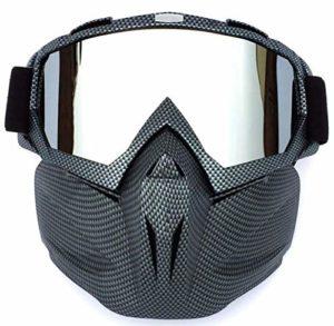 SKLLA Lunettes de masque rétro, fabriquées en matériau Pc intégral, convient pour les lunettes de course, les lunettes de ski de fond, les lunettes d'équitation en plein air, les lunettes de ski, noir