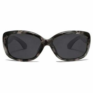SOJOS Lunettes De Soleil Vintage Carré Pour Femmes Polarisé UV Protection Monture Havana SJ2111 Avec C2 Monture Tortoise/Verre Gris