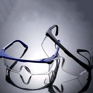 Ys-s Personnalisation de la boutique Sécurité télescopique cadre bleu lunettes de protection coupe-vent, la poussière, l'impact des lunettes de protection du travail et résistant aux projections d'eau