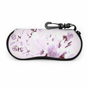 AEMAPE Blooming Glorious Flowers jardin étui à lunettes hommes enfant étui à lunettes lumière Portable néoprène fermeture éclair étui souple étui à lunettes pour hommes