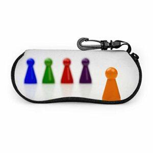 AEMAPE Jeu de société pions coopération étui à lunettes pour enfants étui à lunettes pour femmes léger Portable néoprène fermeture à glissière étui souple pour lunettes de soleil