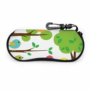 AEMAPE Oiseaux mignon belle Double aile étui à lunettes pour enfants étui à lunettes hommes lumière Portable néoprène fermeture éclair étui souple étui à lunettes de soleil pour les femmes