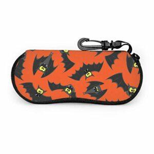 Black Night Wild Animal Bat Enfants Étui À Lunettes De Soleil Étui À Lunettes Enfants Lumière Portable Néoprène Zipper Étui Souple Pour Lunettes De Soleil Pour Hommes