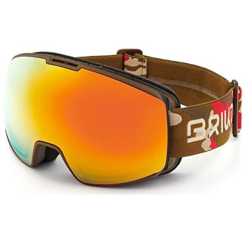 Briko Kili 7.6 Masque de Ski/Snow, Adulte Unisexe, Matt Brown Red Camo-RM2, Taille Unique