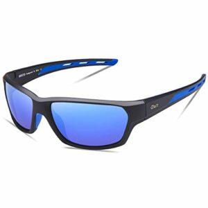 Duco Lunettes de Soleil Polarisées pour Hommes et Femmes, Sports Lunettes De Soleil Protection UV400 et Légères pour Conduite Vélo Pêche Golf Et Activités D'extérieur 6201 (Jaune)