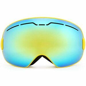 HAOXUAN Lunettes de Ski magnétiques OTG pour Hommes et Femmes, Lunettes de Sport de Plein air Anti-buée à Double Couche sphériques, Protection UV400,06