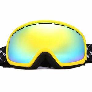 HAOXUAN Lunettes de Ski OTG, Lunettes de Sport de Plein air Anti-buée Double Couche sphériques, Protection UV400,06