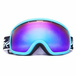 HAOXUAN Lunettes de Ski OTG pour Hommes et Femmes, Lunettes Anti-buée à Double Couche sphériques, Protection UV400 Cyclisme Alpinisme équipement de Sports de Plein air,03