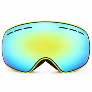 HAOXUAN Lunettes de Ski OTG pour Hommes et Femmes, Lunettes de Sport de Plein air Anti-buée à Double Couche sphériques HD, Protection UV400,06