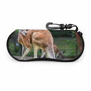 Insouciant kangourou Animal porte-lunettes de soleil pochette hommes étui à lunettes lumière Portable néoprène fermeture éclair étui souple étuis à lunettes pour les femmes