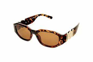 Kost Lunettes de soleil pour femme rectangulaires marron flammé/doré (20-018)