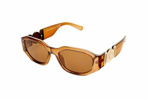 Kost Lunettes de soleil rectangulaires marron/doré pour femme (20-018)