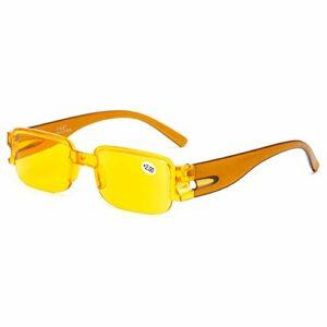 Lunettes de lecture lunettes de lecture jaunes lunettes d'ordinateur lunettes de lecture carrées lunettes de lecture Anti-fatigue oculaire hommes et femmes lunettes lentilles en résine