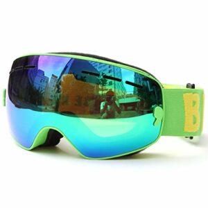 Lunettes de ski lunettes de neige protection UV Protection Enfants Lunettes de ski UV400 Anti-brouillard Double couches de ski Masque de ski Verres Snowboard Patinage Lunettes de soleil coupe-vent for