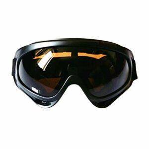 Lunettes de ski lunettes de neige protection UV Protection Lunettes de ski chaleureux hivernaux à ventouse anti-poussière anti-brouillard avec bandeau d'élastique réglable Racing Racing Eyewear for l'