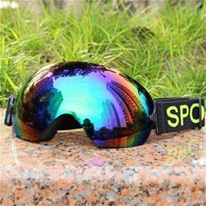 Lunettes de ski lunettes de neige protection UV Protection Lunettes de ski professionnel hommes lentilles UV400 adultes anti-brouillard snowboard ski de ski lunettes femmes ultra-légères hiver Snow Ey