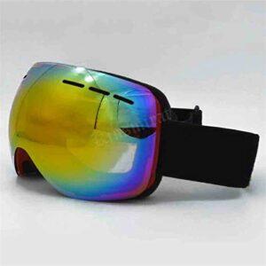 Lunettes de ski lunettes de neige protection UV Protection Nouveau Ski de ski Double Lunettes de ski Anti-Fog Grand lentille sphérique anti-UV Protection Sports Motocross Snowboard Lunettes de sécurit