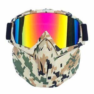 Lunettes de ski lunettes de neige protection UV Protection Ski de ski hiver Ski-vent Ski Verres Motocross Sunglasses avec masque de visage Snowboard Snowboard Snowboard Snowmobile Goggles 16 couleurs