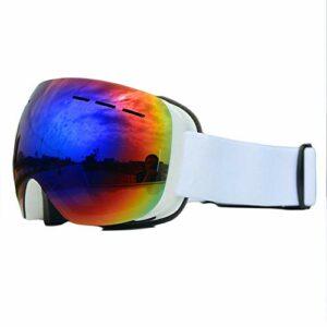 Lunettes de Ski,avec Protection 100% UV400 Anti-BuéE Coupe-Vent Coupe-Vent Interchangeable Lentilles Interchangeables pour Hommes,Femmes dans Le Sport et à L'ExtéRieur,Vert