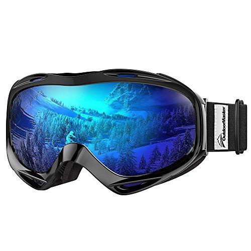 OutdoorMaster – Masque de ski OTG pour hommes, femmes et jeunes, protection UV 100 %, VLT 15,6 %.