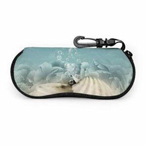 PageHar Illustration abstraite bruit délibéré eau lunettes de soleil étui porte-lunettes hommes étui à lunettes Portable étuis à glissière en néoprène pour lunettes