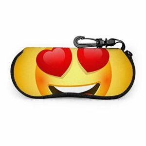 PageHar Visage souriant émotions amour yeux heureux lunettes de soleil douces pochette pour femmes étui à lunettes de soleil Portable néoprène fermeture éclair étui à lunettes souple