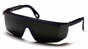 Pyramex Integra Safety Eyewear, Black Frame/5.0 IR Filter Lens