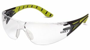 Pyramex Safety Endeavour Plus Durable Lunettes de sécurité, Mixte, SBGR9610S, Black/Green Frame, Clear Lens
