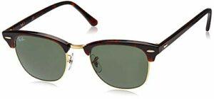 Ray-Ban Clubmaster Sunglasses RB3016 Lunettes de soleil pour femme – Marron – S