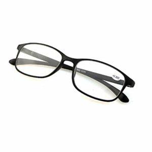 Reading glasses Lunettes de Lecture rétro Grand Cadre Hommes et Femmes faciles et Pratiques Lunettes légères en résine Anti-Bleue pour Les Personnes âgées Anti-Fatigue