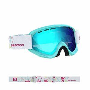Salomon, Juke, Masque de ski pour enfants (6-12 ans), Bleu (Aruba Flower)/Universal Mid Blue, L40848000