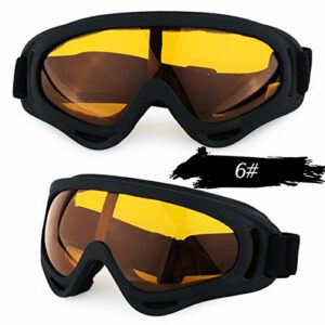 SYFO Lunettes de Ski Anti-Brouillard, Lunettes de Ski Snowboard, Ski, Hommes, Femmes, Lunettes de Ski, Lunettes de Soleil motoneige, Sports d'hiver for Les Hommes (Color : 6)