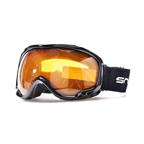 SYFO Lunettes de Ski Lunettes de Brouillard Doubles Couches UV400 Masque de Ski Hommes Sport féminin motoneige Neige Snowboard Lunettes Royaume-Uni.Stock (Color : Orange)