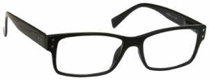 The Reading Glasses Lunettes de Lecture Hommes Noir Grand Designer Style Lecteurs Charnières Ressort R11-1 +2,00