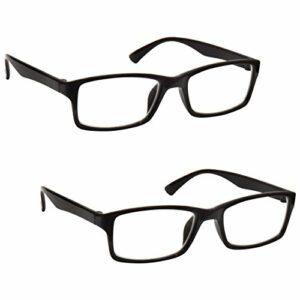 The Reading Glasses Lunettes de Lecture Noir Lecteurs Valeur Set de 2 Designer Style Hommes Femmes RR92-1 +1,00