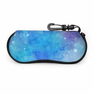 AEMAPE Art mignon noël petits arbres étui à lunettes de soleil étui à lunettes drôle étui à lunettes en néoprène à glissière pour hommes