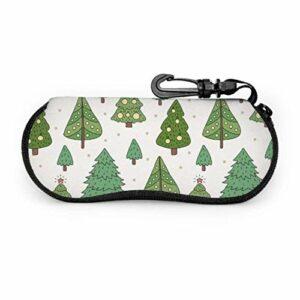 AEMAPE Ensemble d'arbre de Noël étui à lunettes étui à lunettes à glissière étui à lunettes en néoprène à glissière souple pour hommes