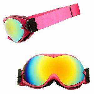BDwantan Rose TPU Cadre Masque De Ski Cadeaux for Les Femmes Hommes Double Anti-Brouillard Cocker Myopie Hiver Escalade en Plein Air Équipement Sportif