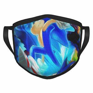 FlonzGift Sonic The Hedgehog Ma-sk Masque de moto anti-UV pour la pêche, la chasse, la course à pied, le ski
