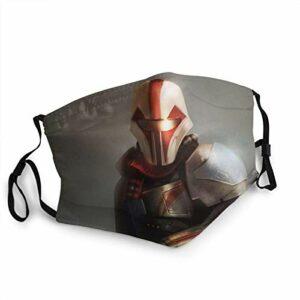 FlonzGift Star Wars Mandalorian Masque de moto UV pour la pêche, la chasse, la course à pied, le ski