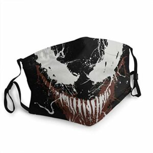FlonzGift Venom Ma-sk Masque de moto anti-UV pour la pêche, la chasse, la course à pied, le ski