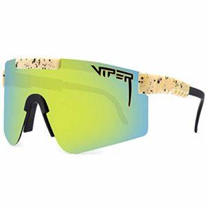 GQFGYYL-QD Pit Viper Lunettes de Soleil Cyclisme en Plein Air Course à Pied Conduite Pêche Golf Lunettes de Sport Polarisées pour Hommes et Femmes,C16